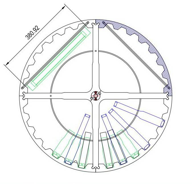 Схема на барабан за центрофуга FLAMINGO
